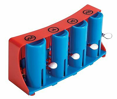 Schylling COIN CHANGER Toy Dispenser Money 4 Barrel/Chamber/Slot Vending New Box