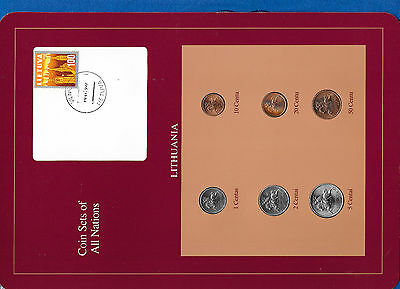 Coin Sets of All Nations Lithuania UNC 1,2,5,10,20,50 Centu 1991