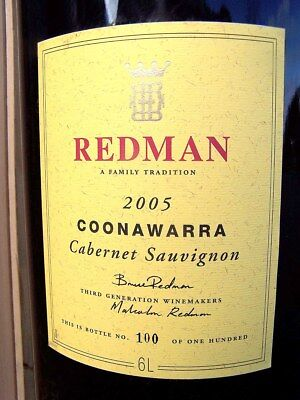 2005 REDMAN Cabernet 6L (Equiv 8 Bottles) IMPERIAL Bottle #100 Isle of Wine
