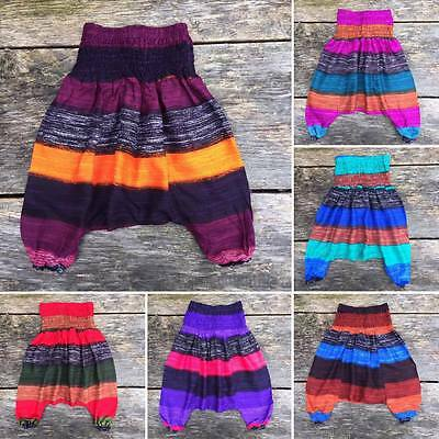 Children's girls baby harem pants boho baggy summer hippy trousers 12 -18 mnth