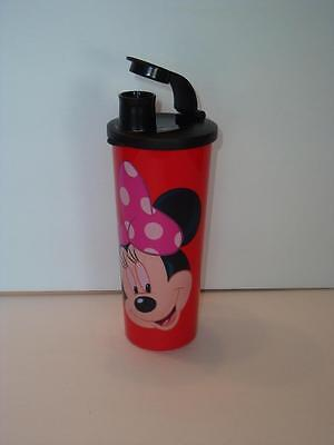 Tupperware Minnie Mouse Disney Straight Edge 16-oz Tumbler & Red Pour Seal New