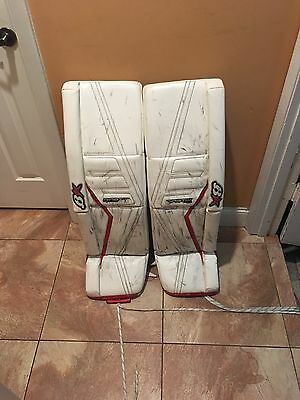 Brian's Gnetik 2 Pro Goalie Pads 36+2 Red/White