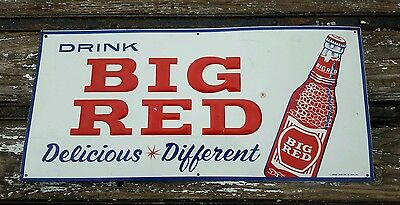 Rare Big Red Soda Embossed SST TIN SIGN WACO TEXAS TX
