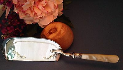 Vintage Sterling 925 Band & Silver Plate WILLIAM YATES Sheffield CRUMB CATCHER