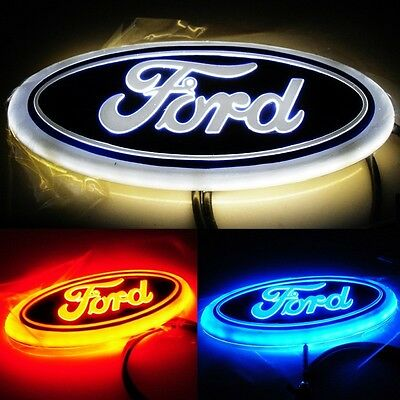 4D Car Led Logo Rear Badge Light Sticker Emblem Tail Lamp For Ford Focus Mondeo