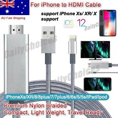 Lightning 8Pin to HDTV HDMI AV Adapter Cable for iPhone 7/7/6/6s Plus 6/5 iPad