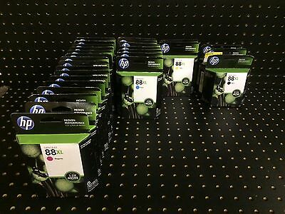 Lot of 28 Genuine Sealed HP 88XL Ink Cartridges Expired 2012 to 2015