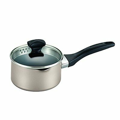 Farberware Dishwasher Safe Nonstick 1qt Covered Straining Saucepan w/ Pour Spout