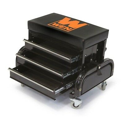 Heavy Duty Rolling Tool Chest Seat Mechanic Stool Creeper Garage Glider