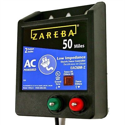 50 Mile AC Low Impedance Energizer Electric Fence Livestock Horse Security