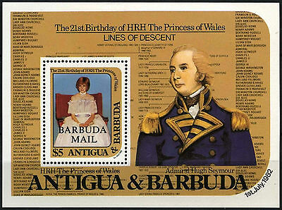 Barbuda 1982 SG#MS631 Priness Of Wales 21st Birthday MNH M/S #D42331