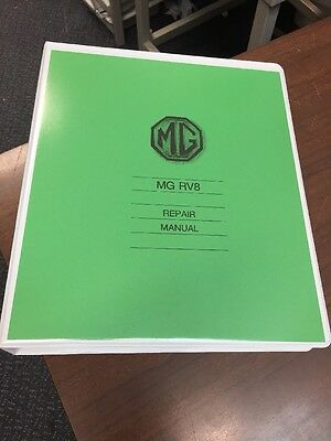 MG RV8 (Factory) Workshop Manual Instruction Repair Service Technical