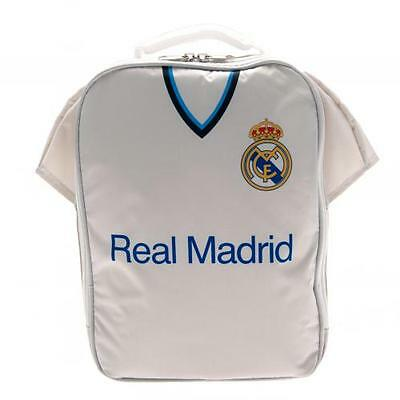 Official Licensed Football Product Real Madrid Kit Lunch Bag White Gift Fun New