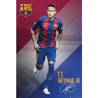 Official Licensed Football Product FC Barcelona Poster Neymar JR Wall Gift New