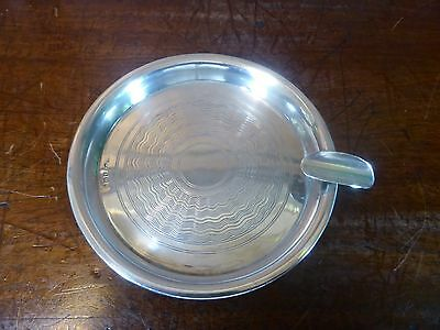 EXCELLENT Hallmarked 1944 SOLID SILVER machine turned ASHTRAY/ASH TRAY 45gms