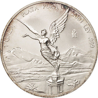 [#505405] Mexico, Onza, Troy Ounce of Silver, 2001, Mexico City, Silver,...