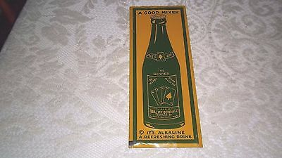 ORIGINAL Rare Vtg ACES UP-The Winner-Playing Cards-Soda-Cola TIN Door Push SIGN