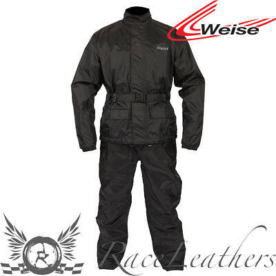 Weise Stratus Black Waterproof Motorcycle Motorbike Scooter Overtrousers
