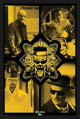 FRAMED Breaking Bad - Quad Yellow 36x24 Art Print Poster