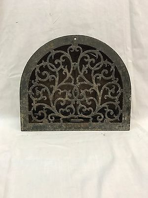 Antique Cast Iron Arch Top Dome Heat Grate Wall Register 37-17R