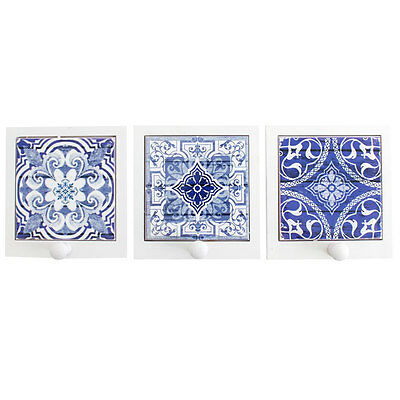 Shabby Chic/Morroccan tiles -Moroccan  hooks. Approx H:14cm W:13cm D:4cm