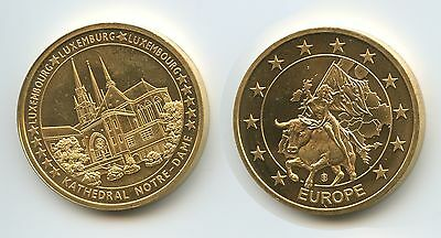 GY748 - Medaille Europa Luxemburg Kathedral Notre-Dame Luxembourg