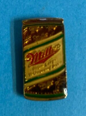 Rare Vintage 1980's Miller Beer Can Breweriana Jacket Hat Lapel Pin 018