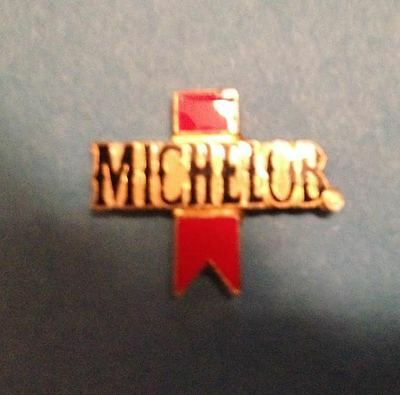 Rare Vintage 1980's Michelob Beer  Breweriana Jacket Hat Lapel Pin 011