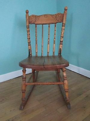 Antique Nursing Chair (tricoteuse) or Childrens Rocking Chair, Montreal  Canada
