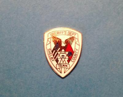 Rare Vintage Sherif's Department Shelby County Tennessee Jacket Hat Lapel Pin