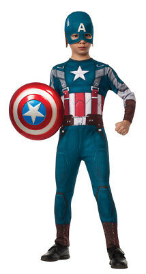 Kids Captain America Retro Halloween Suit