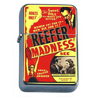 Vintage Poster D19 Windproof Dual Flame Torch Lighter Reefer Madness 1936