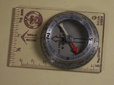 Vintage Boy Scouts of America Compass Silva BSA Map Ruler Field Camp