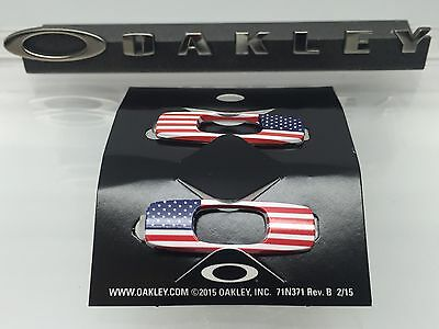 AUTHENTIC OAKLEY BATWOLF REPLACEMENT ICONS USA FLAG BRAND NEW! America Genuine