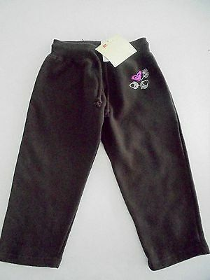 Bnwt Roxy Kids Toddler Girls Trackpants Forest Friends (Choc) Rrp $57 Size 2