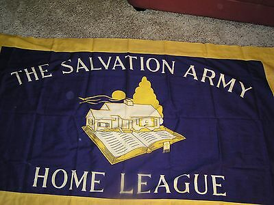 Salvation Army -  LARGE OFFICIAL HOME LEAGUE FLAG - 60 X 36  WOOL