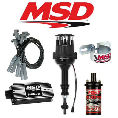 msd 90171 ignition kit digital 6a distributor wires coil early msd black ignition kit digital 6a distributor wires coil ford 289 302