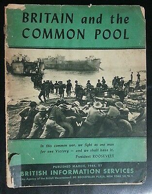 Vintage WW2 BRITAIN AND THE COMMON POOL Booklet Aviation England