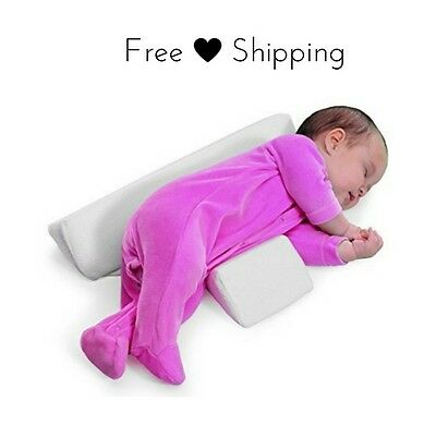 Baby Anti Roll Pillow Newborn Sleep Positioner Support Infant Flat Head Cushion