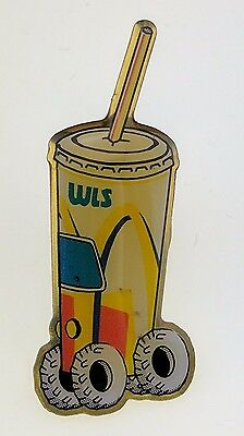 McDonald's Pin WLS Soda Pop Fountain Drink Container Mars Rover Wheels Straw