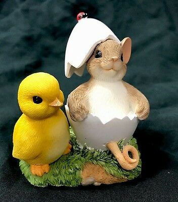 Charming Tails You're One of A Kind EASTER Chick EGG Enesco Mouse Figurine