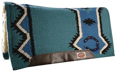 "TEAL 36"" x 34"" Contoured Pad New Zealand Wool Breathable Memory Felt Center!"
