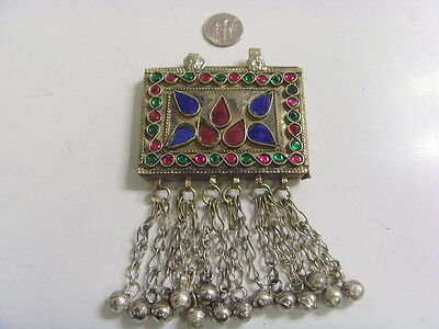 Antique Kuchi gypsy tribal Islamic Amulet Occult pendant belly dance ats 49655