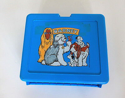 Barney and Roger Lunch Box by Bluebird Toys Vintage 1988 Made in England RARE!!!