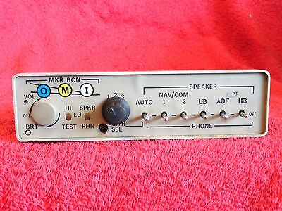 Cessna Audio Panel With Mbr P/n 0570115-6 28 Volts Tan