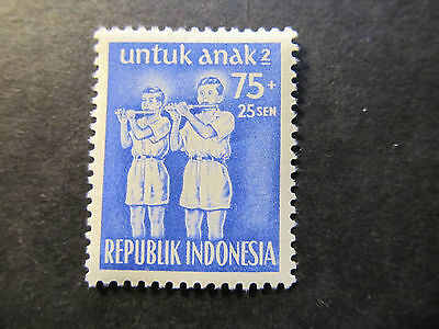 1954 - Indonesia - Bamboo Flute Players - Scott B81 Sp46 75S + 25S (1)
