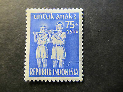 1954 - Indonesia - Bamboo Flute Players - Scott B81 Sp46 75S + 25S (2)
