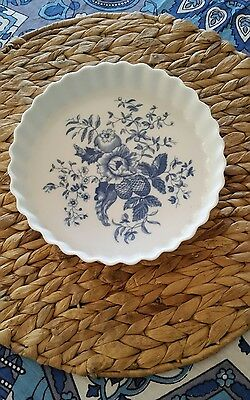 Royal Worcester Blue and White Rhapsody Porcelain Flan Dish 1975