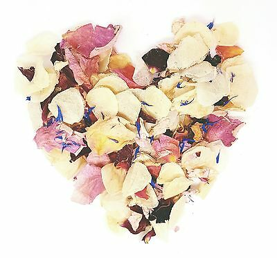 Slowfall Natural Real Dried Petal Biodegradable Wedding Confetti SummersDream 1L