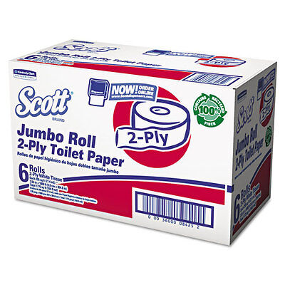 Scott JRT Bathroom Tissue, 2-Ply, 1000ft, 6 Rolls/Carton